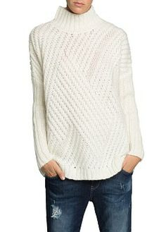 mohair cable knit
