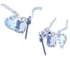 Levi & Hanji Best Friends/Lovers Necklaces by Anime Couture