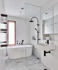 Bathroom appreciation post! How do we feel about black tapeware? #bathroom #tapware #harcourtsadelaidehills