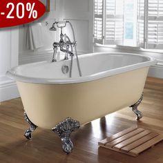 Bentley - Carlton Badekar, Støbejern, Fødder i krom - Badekaret måler 1.700 x 780 mm | Bredt udvalg af badekar kan købes billigt online hos VillaHus.com