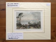 Vintage antiquarian original steel engraving, c. 1835–1850, Milford Haven, Pembrokeshire. Vintage antiquarian original engraving for 'Wanderings in South Wales' by Thomas Roscoe. Engraved by T. Creswick from a sketch by C.Radclyffe. Mounted in passepartout and wrapped in plastic cover.   https://nemb.ly/p/SywO3bUde Happily published via Nembol