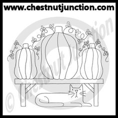 Pumpkin Bench Line Art – Chestnut Junction