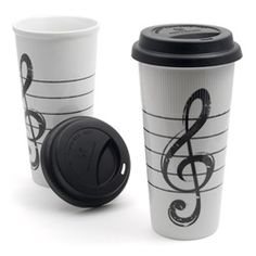 G-Clef Tall Travel Mug