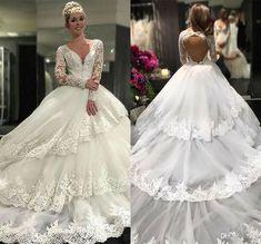 Plus2-26W White//Ivory Lace Wedding Dresses Cap Sleeve V neck Beach Bridal Gowns