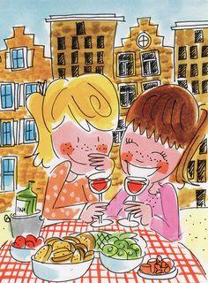 Me and my best friend. :) - By Blond Amsterdam I Love My Friends, My Best Friend, Best Friends, Blond Amsterdam, Illustrations, Illustration Art, Tarjetas Diy, E Cards, Netherlands
