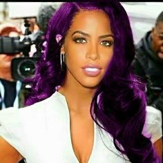 #Aaliyah with purple hair this is cute #Coloredhair #Aaliyahformac #Aaliyahdanahaughton #AaliyahHaughton #Aaliyahnation #Aaliyahmeme…