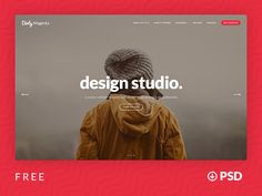⬇ Free download: Agency Website Template PSD