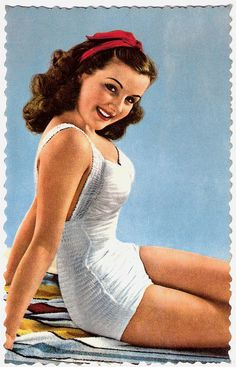 The vintage ad, complete with vintage curls, is too pretty to leave off my board!