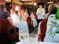 Viajar a través de Europa en el estilo del tren Venice Simplon- Orient- Express.