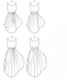 Butterick 6021 Robe, facile, tailles 36 à 44 et 44 à 52