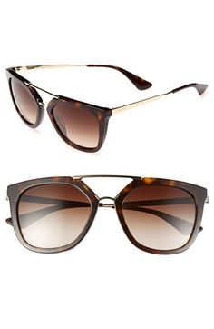 Prada 'Pilot' 54mm Sunglasses available at #Nordstrom