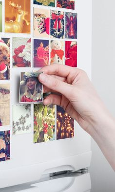 These cool magnets can be made with photos from your Instagram, camera-roll or desktop. A nice idea for christmas gifts! Free delivery worldwide.