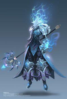 f Dragonborn Cleric hilvl Medium Armor Cloak Staff levitating casting female by ChaoyuanXu lg Fantasy Character Design, Character Design Inspiration, Character Concept, Character Art, Character Reference, Character Ideas, Fantasy Armor, Dark Fantasy Art, Fantasy Wizard