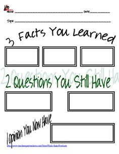 Are your students: watching a movie? listening to a guest speaker? going on a field trip? reading an article? Use one of these note sheets to help your students remember what they learn, or to see if your students understood what you wanted them to, or to take an easy grade on those �experiential learning� activities.  This includes 3 different sheets to use for notetaking. Tested with real students in the classroom of Heidi Raki.  $2.00