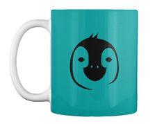 Penguin Tote Bag!  Aqua Mug Front