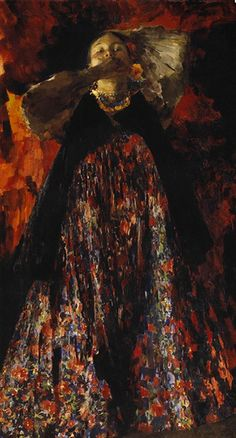 """Philippe Malyavin,""""A Girl,"""" 1903, oil on canvas, Russian Museum."""