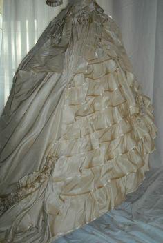 civil war era wedding dresses   All The Pretty Dresses: Late 1860's Wedding Dress