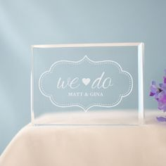 Personalized Engraved We Do Cake Topper - Gifts Happen Here