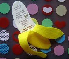 jungle party theme banana invitation