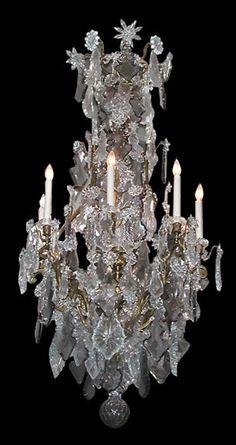 Baccarat Crystal & Bronze Chandelier  #2898  | Home & Garden, Lamps, Lighting & Ceiling Fans, Chandeliers & Ceiling Fixtures | eBay!