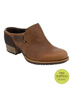 Loving this Oak Shiloh Leather Clog by Merrell on #zulily! #zulilyfinds