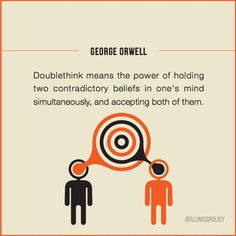 "Orwell ""doublethink"" Liberty Quotes, George Orwell, Writer Workshop, Running For President, Writing Inspiration, Lululemon Logo, Economics, Infographics, Charts"