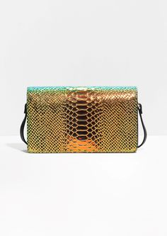 & Other Stories | Snakeskin Shoulder Bag | Green
