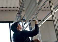 Designer roller blinds: elegant, contemporary, luxury roller blinds for home Contemporary Windows And Doors, Modern Blinds, Modern Window Coverings, Curtain Track System, Night Blinds, Patio Door Blinds, Fitted Blinds, Blackout Blinds