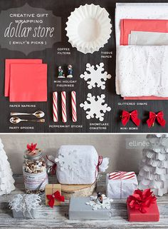 Creative Gift Wrapping Part 2: using Dollar Store finds