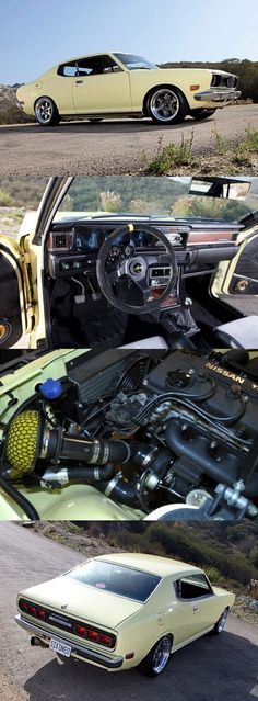 300hp 1974 Datsun 610 Turbo Retro Cars, Vintage Cars, Toyota, Datsun Car, Nissan Infiniti, Japan Cars, Import Cars, Nissan Skyline, Small Cars
