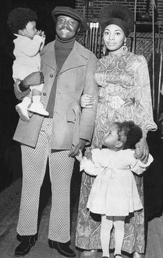 Alpha Phi Alpha Donny Hathaway, wife Eulaulah, and daughters Lalah and Kenya in the Black Love, Black Is Beautiful, Black Men, Beautiful Eyes, The Jackson Five, Divas, By Any Means Necessary, Vintage Black Glamour, Black Celebrities