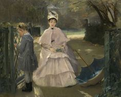Eva Gonzalès met Édouard Manet in 1869 and was to become his student, colleague and model. Manet is said to have begun a portrait of her at once which was completed on 12 March 1870 and exhibited at Salon in that year. National Gallery Of Art, National Art, Art Gallery, Mary Cassatt, Edouard Manet, Camille Pissarro, Edgar Degas, Claude Monet, Paul Cézanne