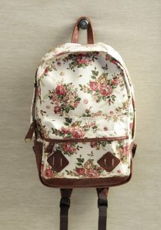 wish I had this floral backpack when I was in school!