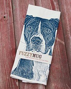 Amazon.com: Pit Bull Tea Towel, Pit Bull Towel - Hand Printed Flour Sack Tea Towel, Dish Towel, Kitchen Towel: Handmade