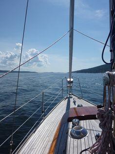Sailing on our Vindö 40 Sailboat, Capricorn, Adventure Time, Boats, Sailing, Action, Sea, Travel, Design