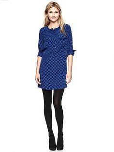 Fluid Shirtdress (Blue Print). Gap. $59.95