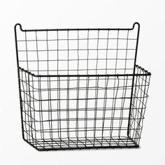 Decorative Wall Hanging Basket - Pillowfort™ at Target. Hanging Basket Storage, Toy Storage Baskets, Book Baskets, Metal Baskets, Kids Storage, Small Storage, Baskets On Wall, Storage Room, Room Organization