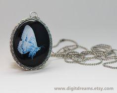 Butterfly Patronus vintage pendant by DigitDreams on Etsy