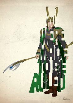 Loki typography art print poster based on a quote by 17thandOak