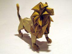 origami lion - LION! GET IT.