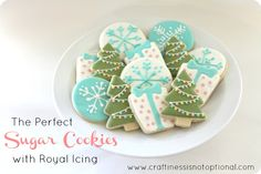 Perfect sugar cookies with royal icing