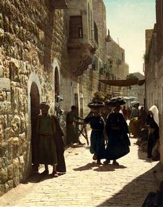 Old town Bethlehem, it reminded us of the place where Jesus, the Savior was born