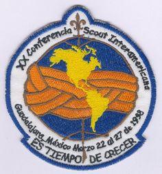 20º Conferencia Scout Interamericana Guadalajara, Jalisco, México22 al 27 de marzo de 1998  22 paises Scouting, Boy Scouts, Badges, Guadalajara, March, Boy Scouting, Scouts, Badge