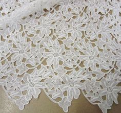 Embroidery Lace Fabric Guipure Lace Fabric Corded by LaceNTrim