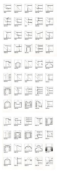 "Louis Kahn (from ""Licht und Raum- light and space"", Urs Büttiker) The chronological listing of projects traces Kahn's development process in light control and modulation. Architecture Drawings, Light Architecture, Concept Architecture, Architecture Details, Interior Architecture, Classical Architecture, Landscape Architecture, Architecture Diagrams, Architecture Student"