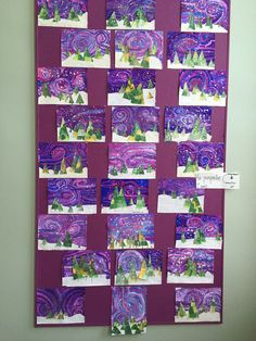 pin-by-jennifer-nodes-on-christmas-art-lessons. Classroom Art Projects, School Art Projects, Art Classroom, Winter Art Projects, Art Projects For Adults, Art 2nd Grade, Classe D'art, Theme Noel, Art Lessons Elementary