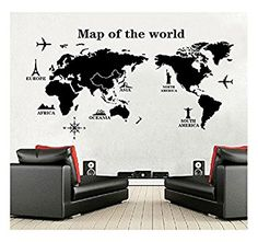 Image result for world map mural