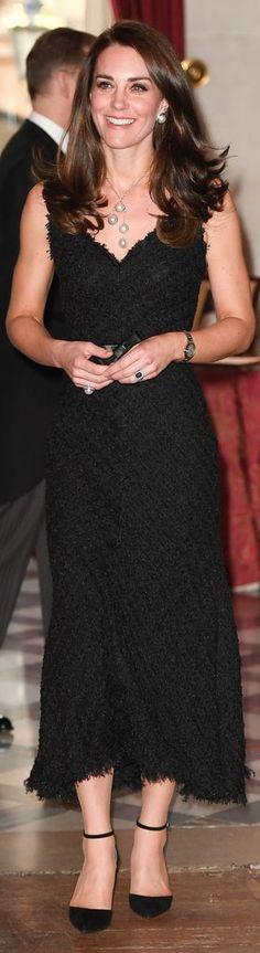 Kate Middleton in Alexander McQueen http://whatkatewore.com/2017/03/17/its-alexander-mcqueen-in-paris-for-embassy-reception/