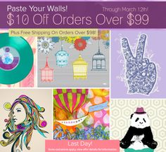 Last Day: $10 Off + free shipping on Wall Art and Room Decor Orders Over $99 at Wheatpaste