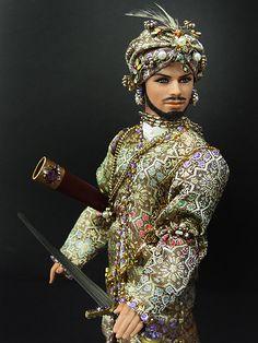 Indian Ken, posing.